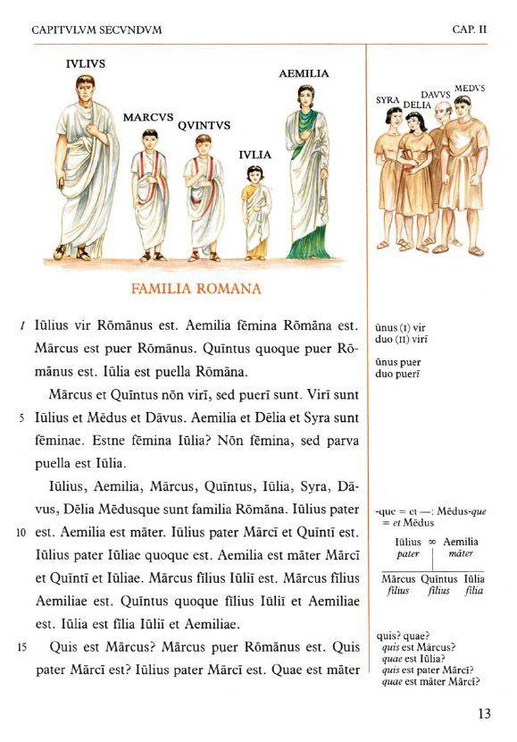 Lingua Latina per se illustrata: capítulo segundo, página de prueba