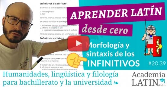 Curso de latín desde cero #20.39: Los infinitivos
