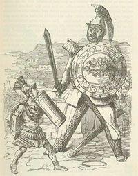 Enfrentamiento de Torcuato con el gigante galo