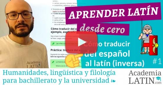 Cómo traducir del español al latín (tema)