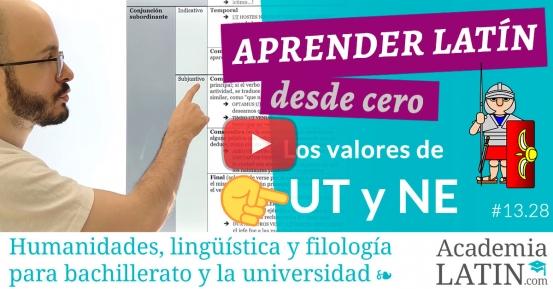 Curso de latín desde cero #13.28: Los valores de 'ut' (y 'ne')