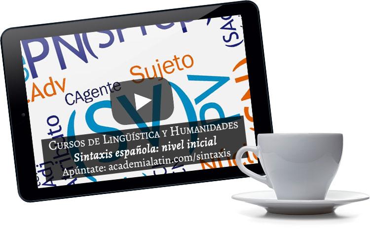 Videocurso de sintaxis española: nivel inicial